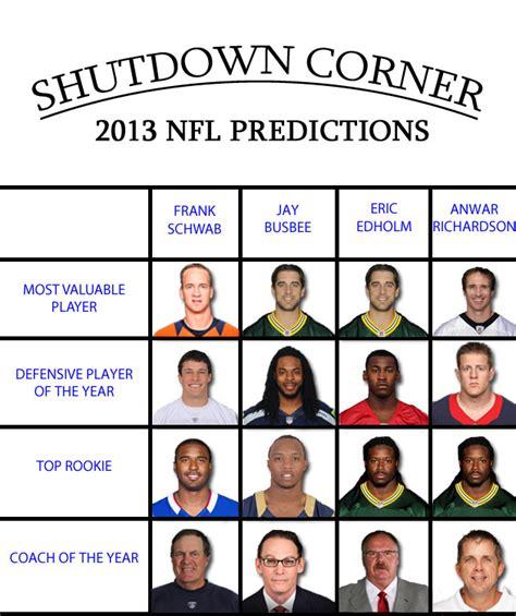 nfl preview week shutdown corner s 2013 nfl predictions