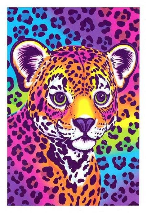 lisa frank hunter the leopard cub postcard by