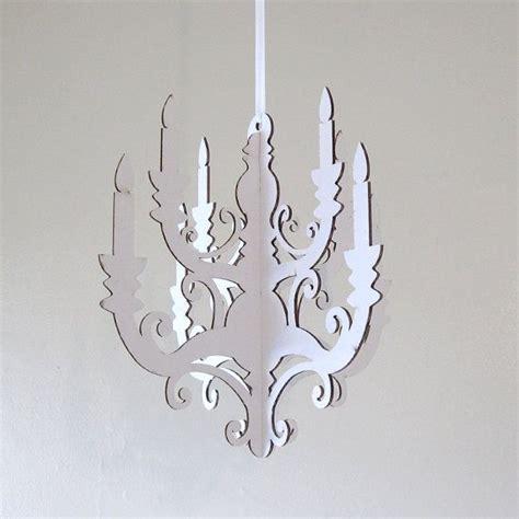 cardboard chandelier diy white chandelier small laser cut cardboard diy