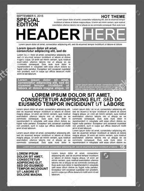 Newspaper Print Template 52 Printable Newspaper Templates Psd Apple Pages Publisher Free Premium Templates