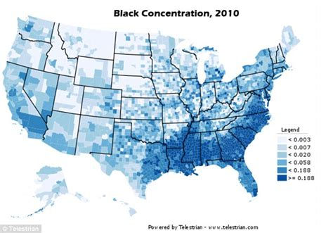 demographic map usa census maps show black and hispanic population centred in