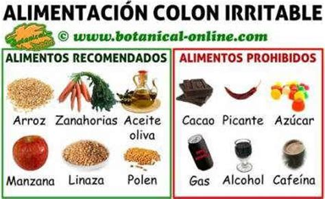 alimentos malos para el colon irritable dieta para colon o intestino irritable alimentos