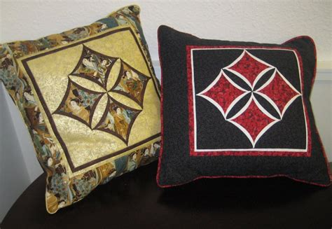 Cathedral Patchwork - cathedral window cushion basic pdf pattern oliven