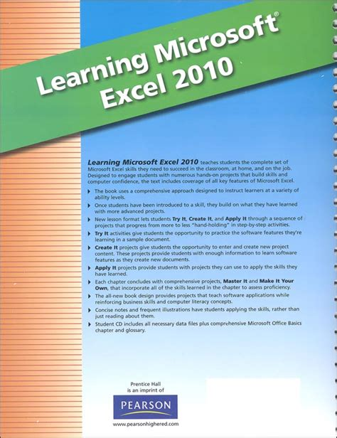 learning microsoft office excel 2010 student edition with