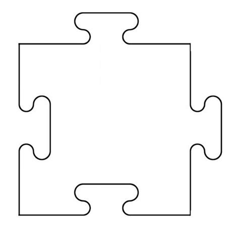 5 piece puzzle template cliparts co
