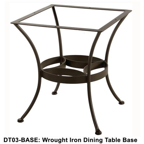Wrought Iron Patio Table Base Ow Standard Wrought Iron Dining Table Base Dt03 Base