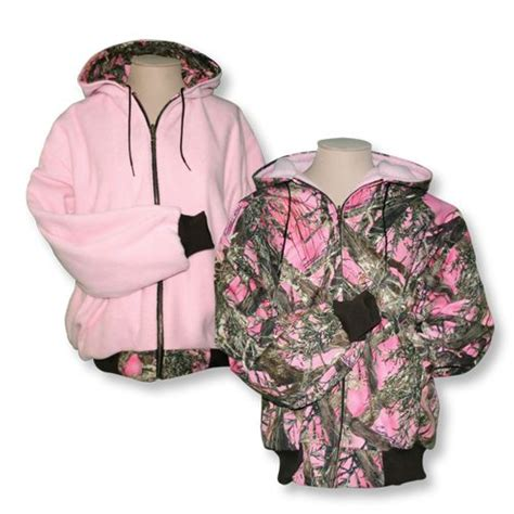 pink pattern coat reversible pink camo hooded reversible jacket pink poly