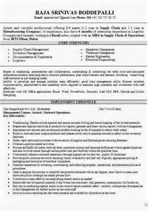 Supply Chain Executive Sle Resume by Supply Chain Management Mba Resume