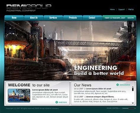 templates for industrial website industrial co flash template best website templates