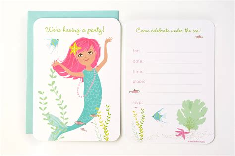 mermaid party invitations party invitations templates