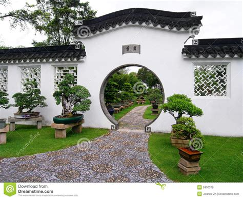 giardini bonsai giardino bonsai cinesi immagine stock immagine 5900379