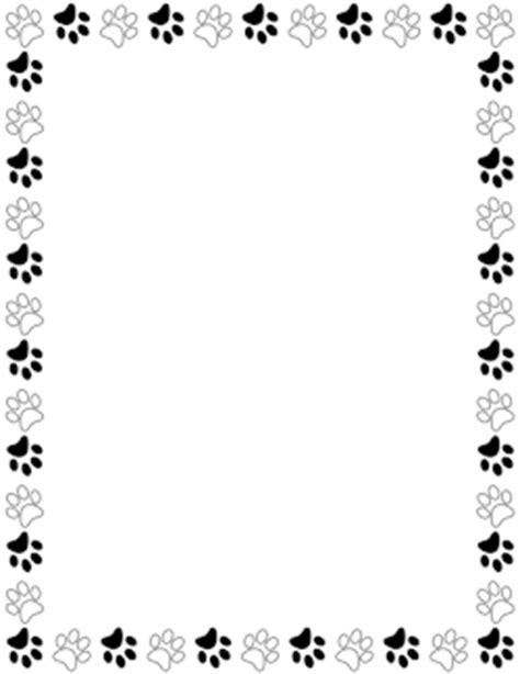 Paw Print Page Border Clip by Free Animal Borders Clip Page Borders And Vector