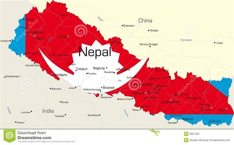 nepal map vector nepal stock image image 6657331