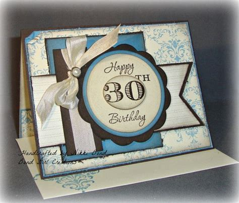 Handmade 30th Birthday Cards - 30th birthday handmade birthday card by