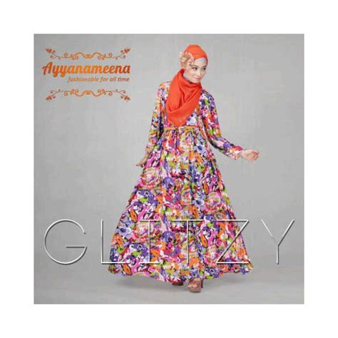 Dress Glitzy By Ayyanameena glitzy orange baju muslim gamis modern