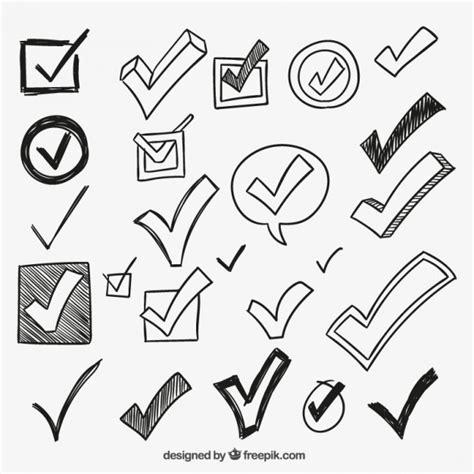 doodle free credit check check marks vector free