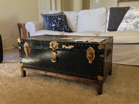 how to make a coffee table into an ottoman how to make an old trunk into a coffee table into the