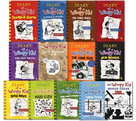 diary of a wimpy kid days book diary of a wimpy kid collection 13 books set school the haul luck ebay