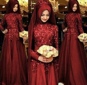 Gamis Pesta Merah Maroon Longdress Maxidress Terbaru Baju Gamis Wanita Modern Dress Muslim Setelan Modis
