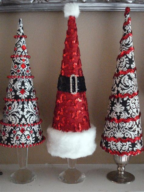 picture of cute cone shaped christmas trees