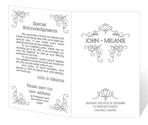 Wedding Program Template Printable Instant Download Free Microsoft Word Wedding Program Templates