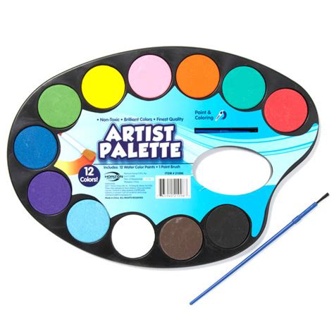 craft artist s palette with paint pods and brush walmart