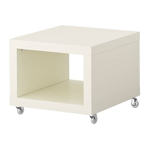 lack side table on casters white ikea