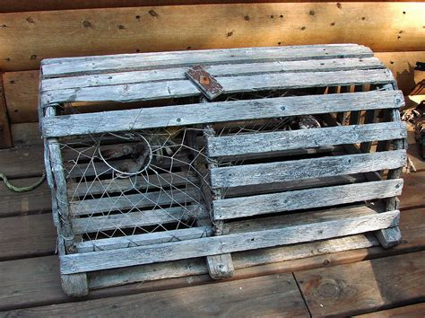 Shabby Cottage Home Decor Old Lobster Trap Great Home Decor Or Use As Table By