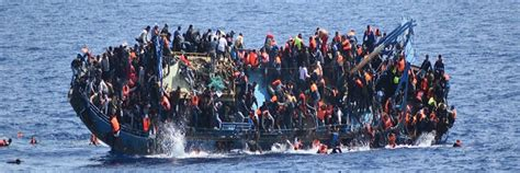 refugee boat libya five die as refugee boat capsizes off libyan coast voice