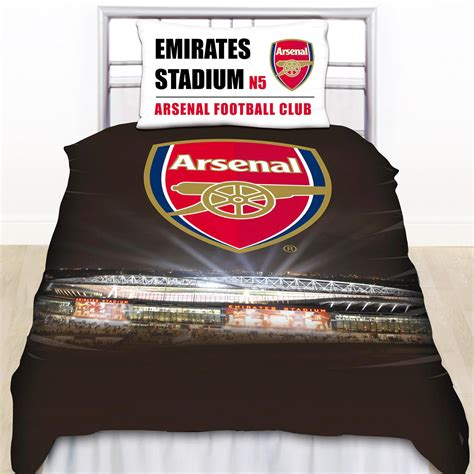 Arsenal Quilt Cover | official arsenal fc football club single duvet quilt cover