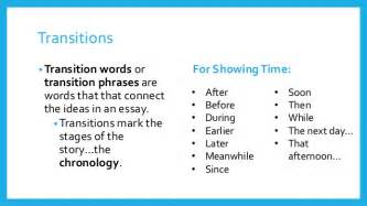 Transition Words For Essays by Narrative Writing Concept Wheel