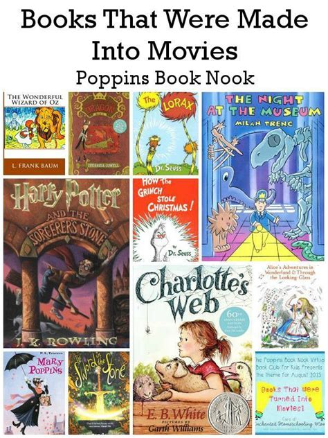 picture books made into august poppins book nook books that were made into