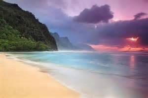 hawaii photography beautiful sunset in kauai hawaii photography by