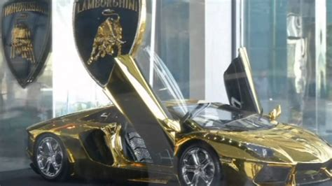 lamborghini gold and diamonds gold and lamborghini worth 7 8m in dubai youtube