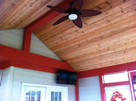 powell oh screen porch cedar tongue and groove ceiling