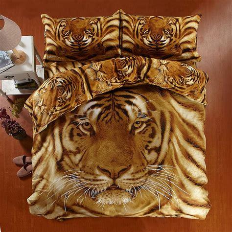 personal  visual animal bedlinen bed sets tiger pattern poweful style bedding comforter sets