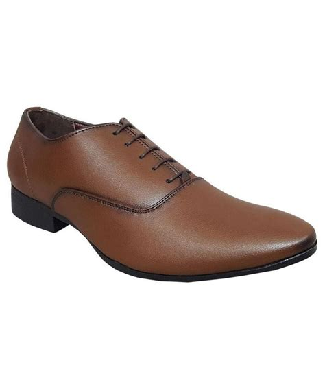 vov brown formal shoes available at snapdeal for rs 1299