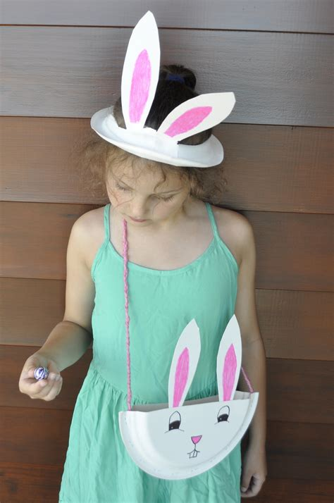 How To Make A Bunny Out Of Paper - how to make a paper plate bunny ears plate be a