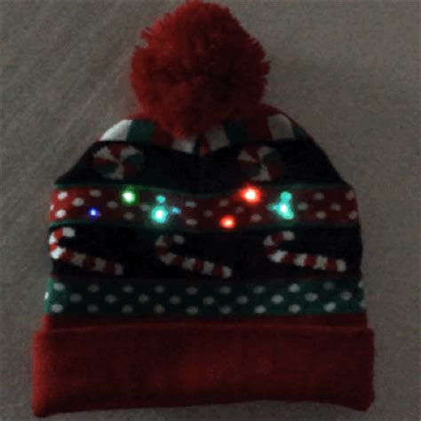 no glow caps for christmas lights light up christmas candy pom pom hat stocking cap the