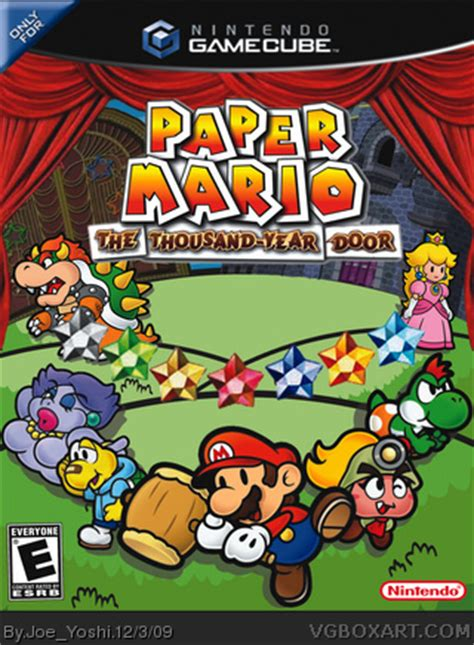 Paper Mario And The Thousand Year Door by Paper Mario The Thousand Year Door Gamecube Box Cover