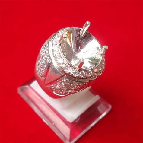 Dijamin Senter Batu Cincin Model Pulpen Silver model cincin perak kode 105 pusaka dunia