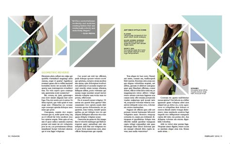 page design ideas spd magazine spread