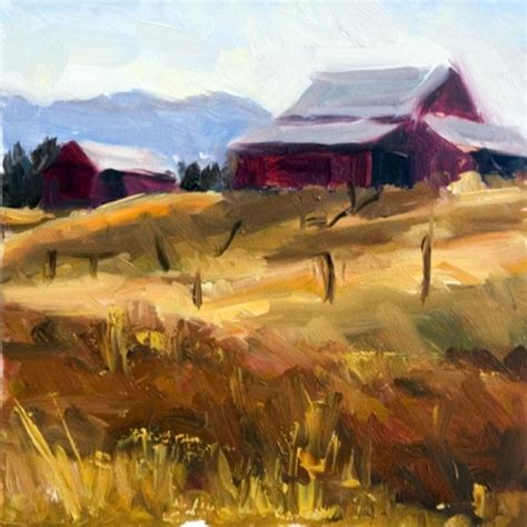 painting montana kmd2421 montana light landscape barn painting
