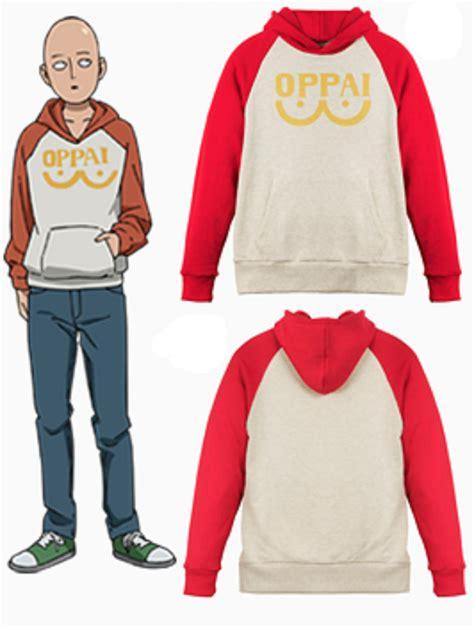 Hoodie Oppai One Punch 4 one punch saitama oppai hoodie sweatshirt