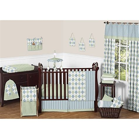 Jojo Design Crib Bedding Sweet Jojo Designs Argyle Crib Bedding Collection Buybuy Baby