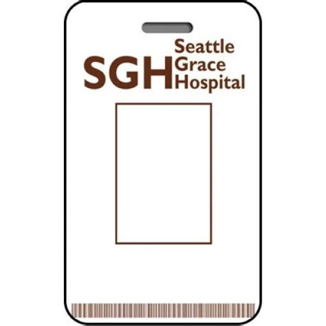 Seattle Grace Hospital Id Card Custom From The Identity Props Store Cosplay Id Card Templates Hospital Id Badge Template