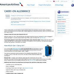 american airline baggage policy american airlines carry on baggage allowance information