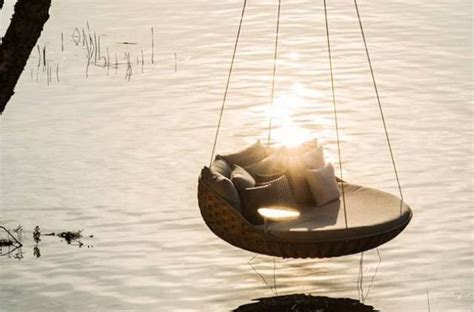 hanging lounger swing dedon swingrest hanging lounger for luxurious rest digsdigs