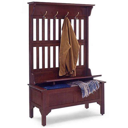 hall tree  storage bench multiple finishes walmartcom