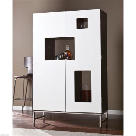 Ebay Kitchen Cabinets Wooden Modern Buffet Wine Bar Storage Cabinet Counter Wood